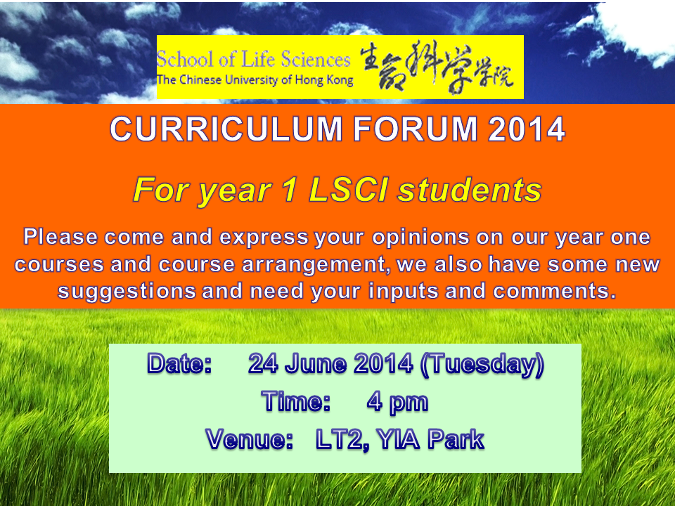 Curriculum Forum - June 2014